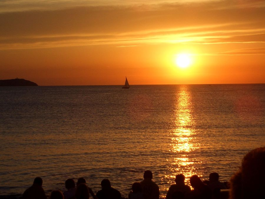 Sunset at Ibiza's Cafe del Mar