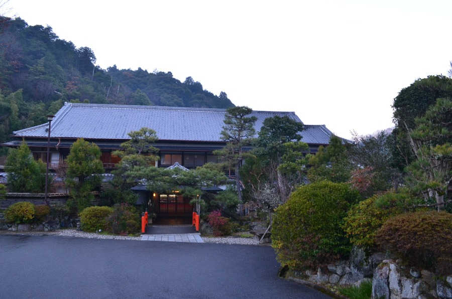 Traditional-styled Japanese guesthouse with lots of greenery around